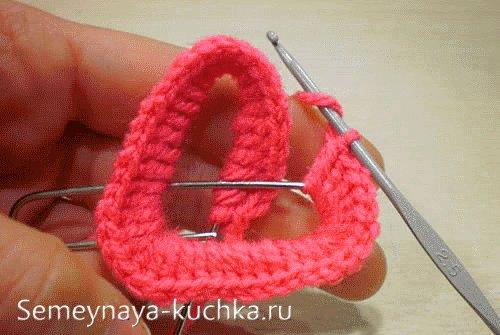вязание валентинки крючком на проволоке