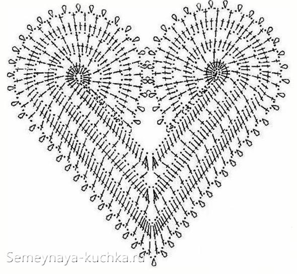 фигурный узор валентинки