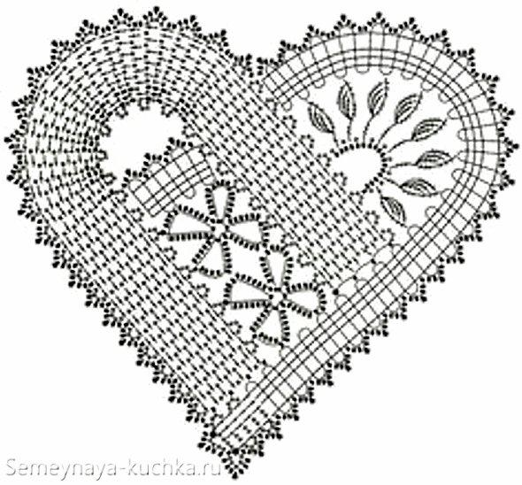 ассиметричная схема валентинки