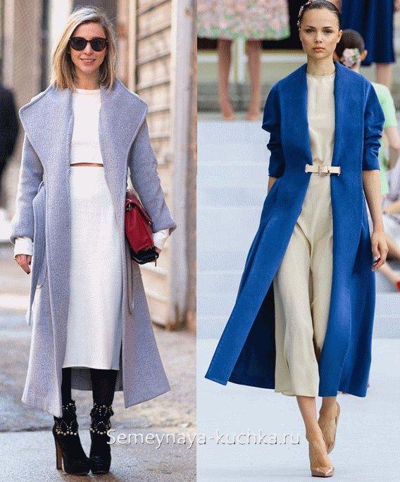 длинное модное пальто весна 2016