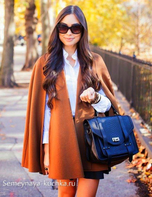 красивое пальто пончо