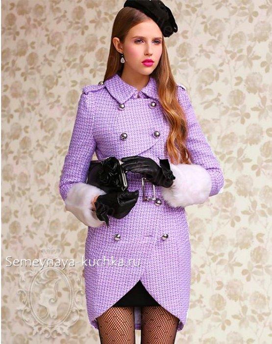 весна пальто тюльпан модное