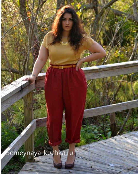 брюки чинос для женщин с полными формами