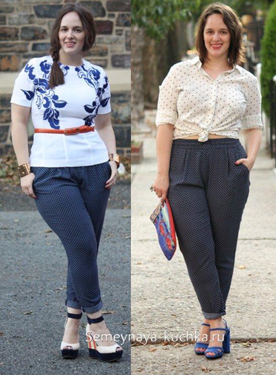 летние брюки для полных
