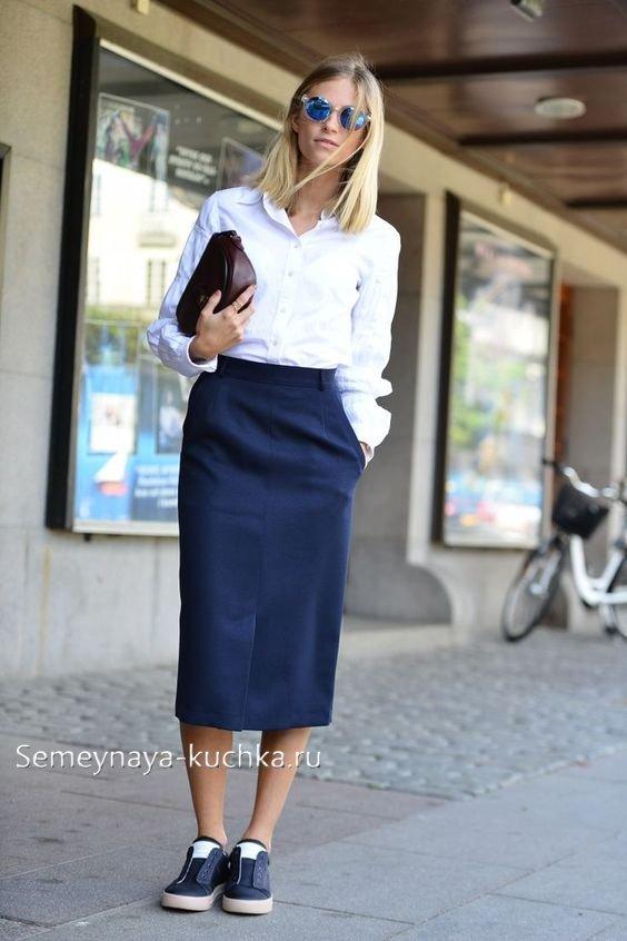 деловые юбки миди