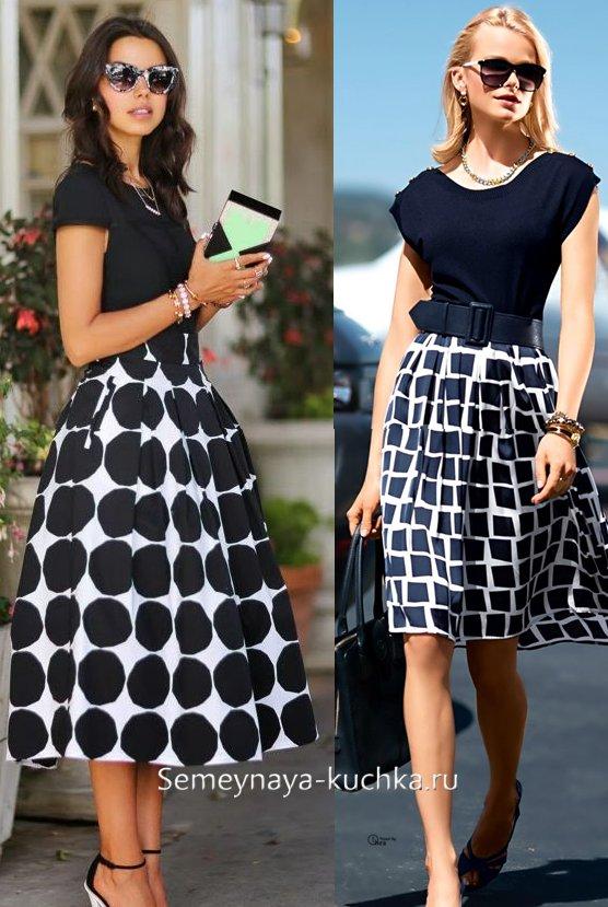 офисная летняя юбка