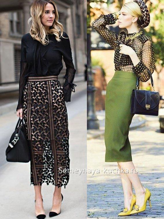 деловые юбки женские