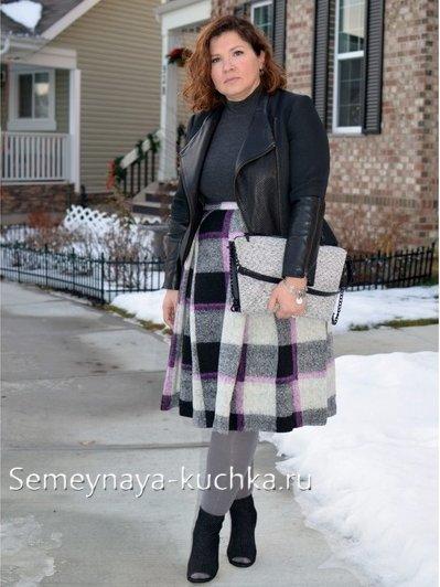 стильные юбки для полных