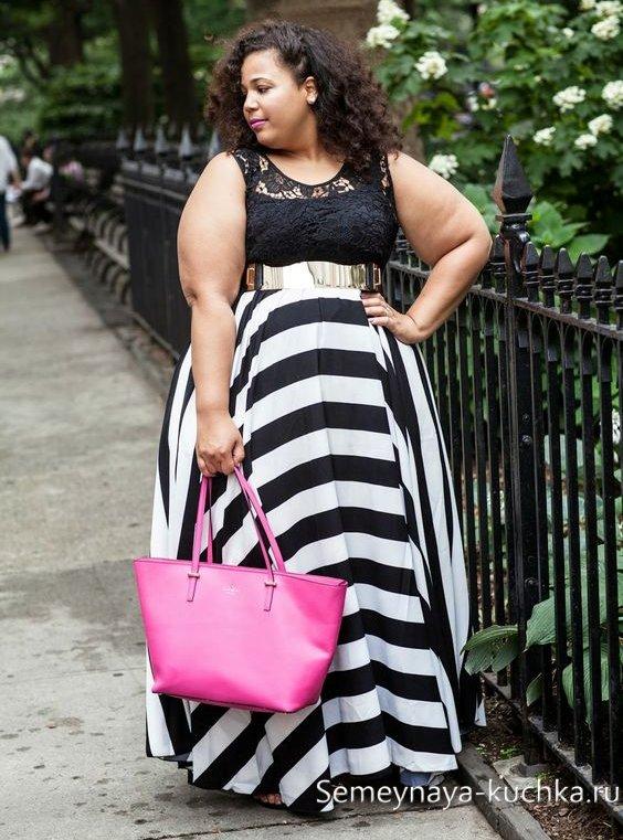 стильные юбки для полных женщин