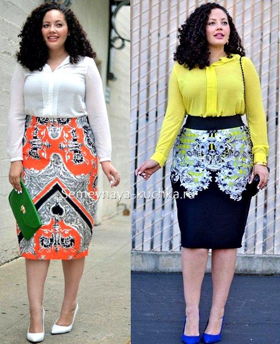 юбка-карандаш для больших женщин