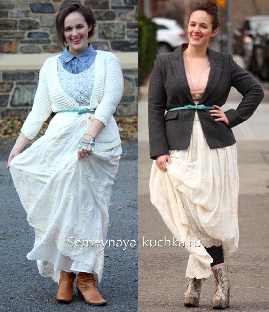какие юбки надеть полным