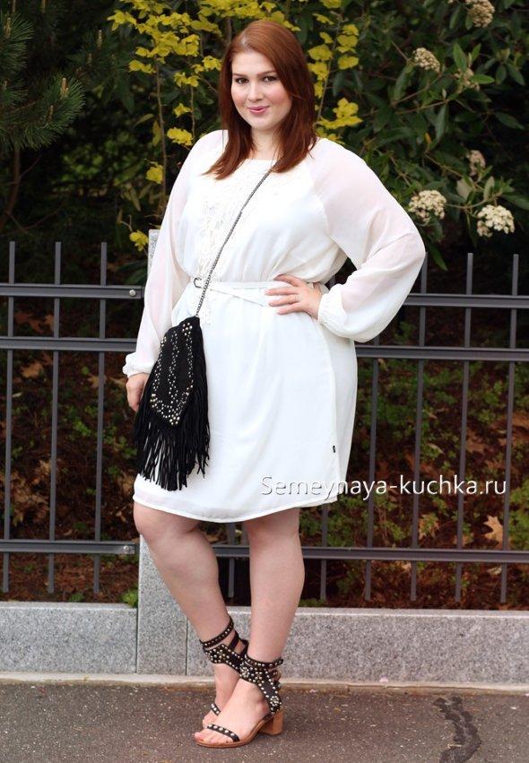 белая одежда для полных