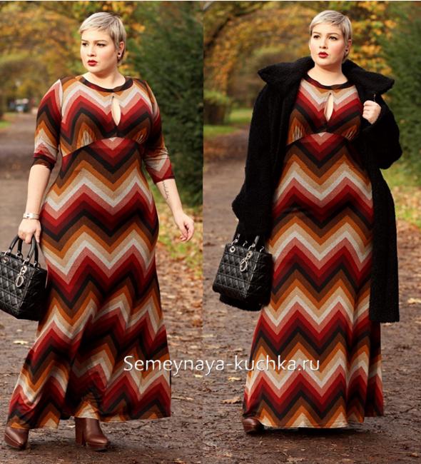стиль платья для полных