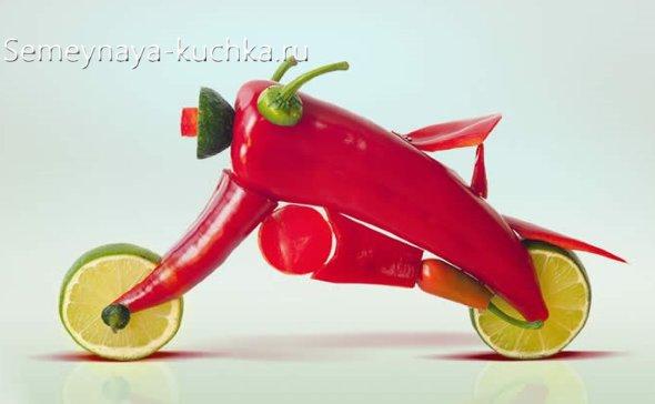 поделки детские из овощей