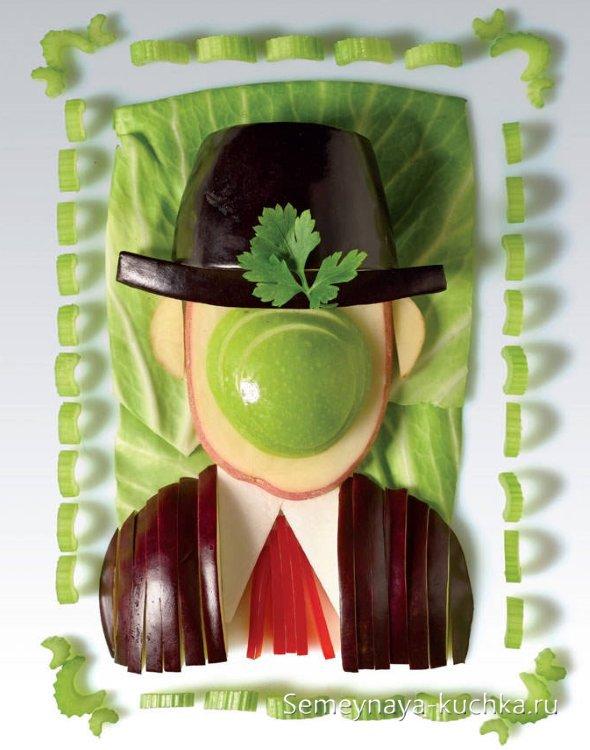 поделки-картины из овощей