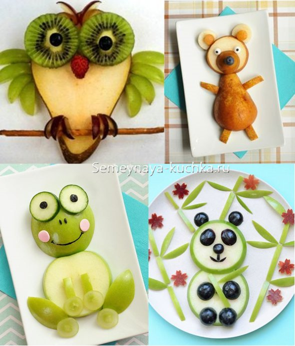 поделки из фруктов и овощей плоские
