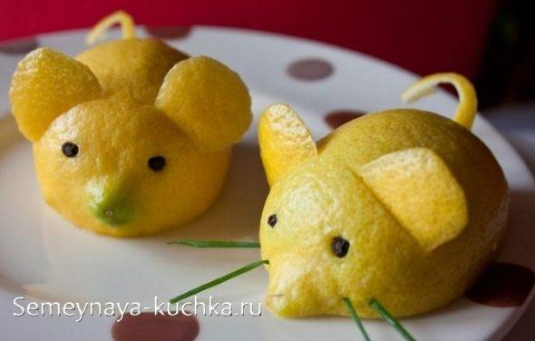 поделки из фруктов лимонов
