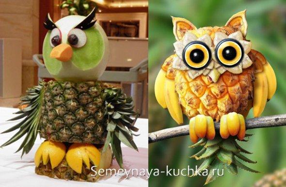 поделки из ананасов, овощей и фруктов