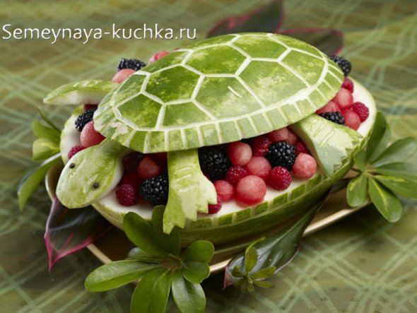 поделки из арбузов, овощей и фруктов