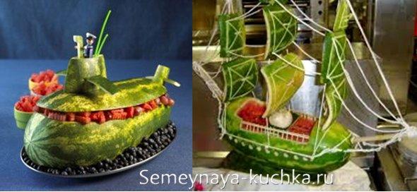 поделки из арбузных корок и овощей