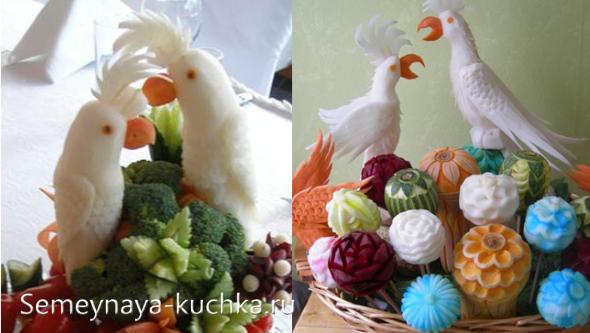 как сделать поделку из овощей