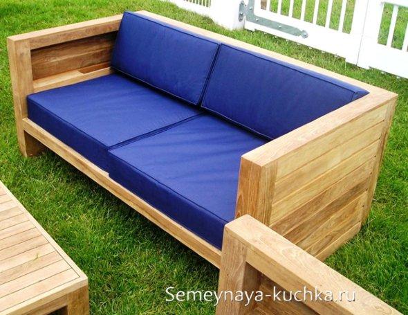 диван своими руками для отдыха в саду