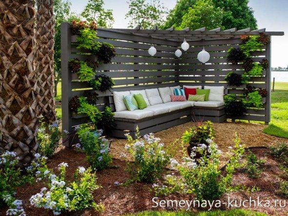 отдых в саду на дачном участке