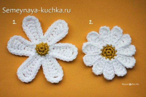 мастер класс ромашка вязание цветка