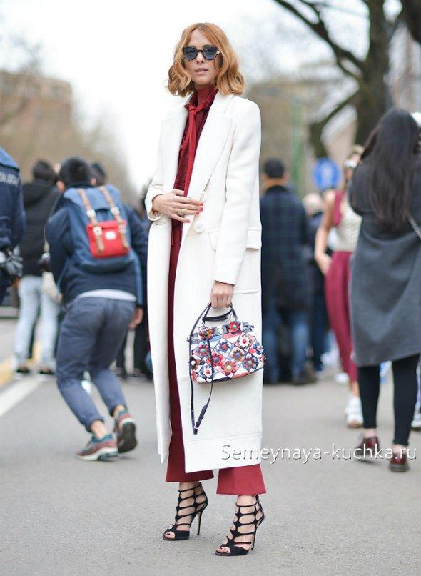 модное пальто макси