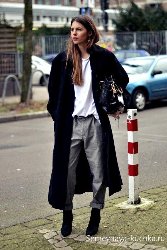 длинное пальто без рукавов