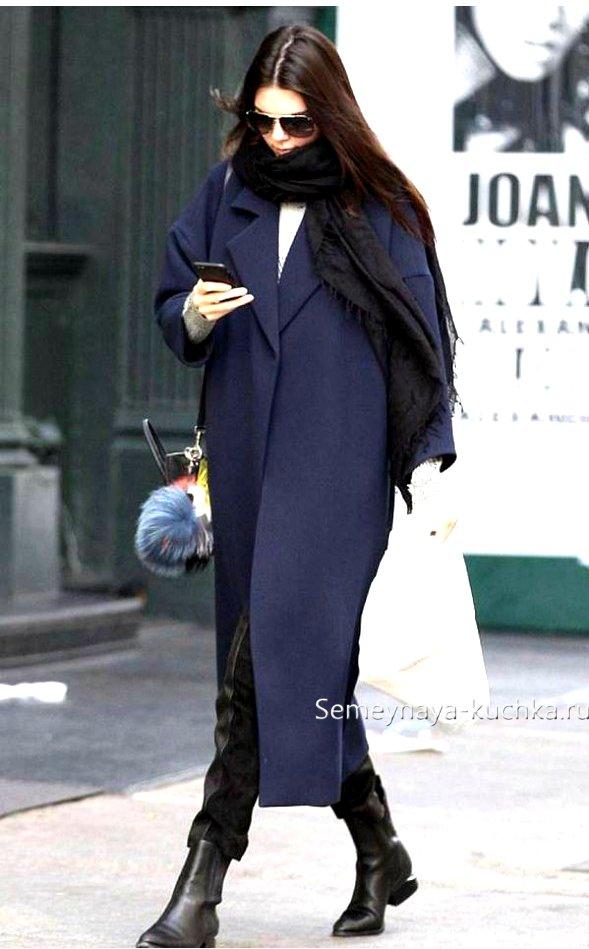 с какой обувью носить длинное пальто оверсайз