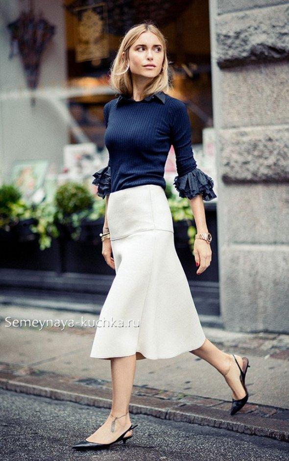 как носить юбку годе с блузой
