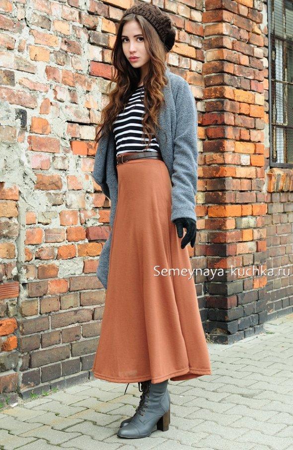 длинная юбка годе