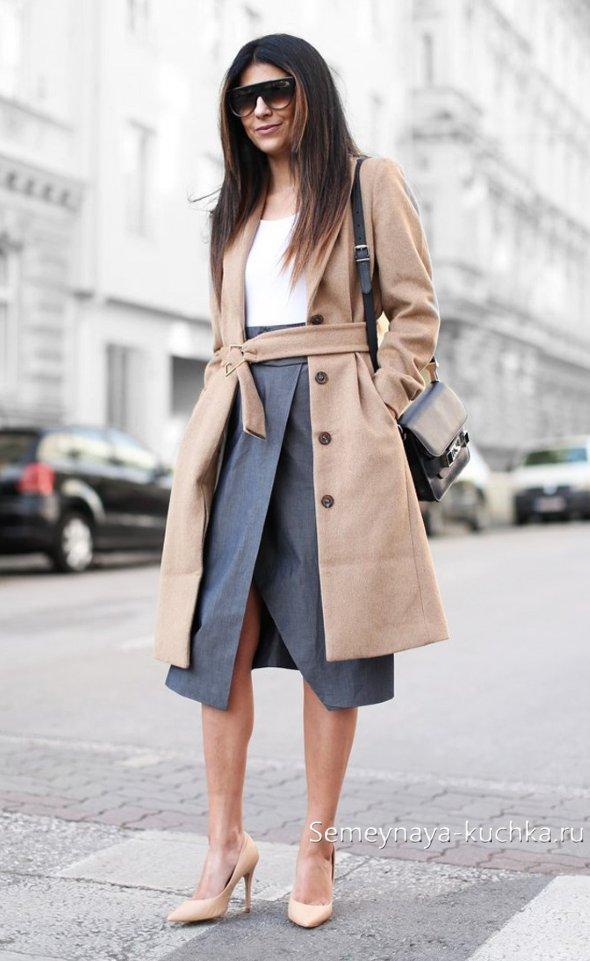 кожаные юбки с запахом