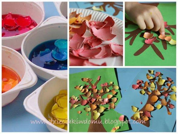 осенние поделки детям с красками
