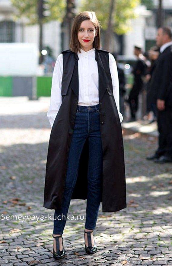 летнее пальто без рукавов с чем носить