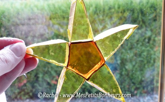 новогодняя звезда из бумаги и пленки