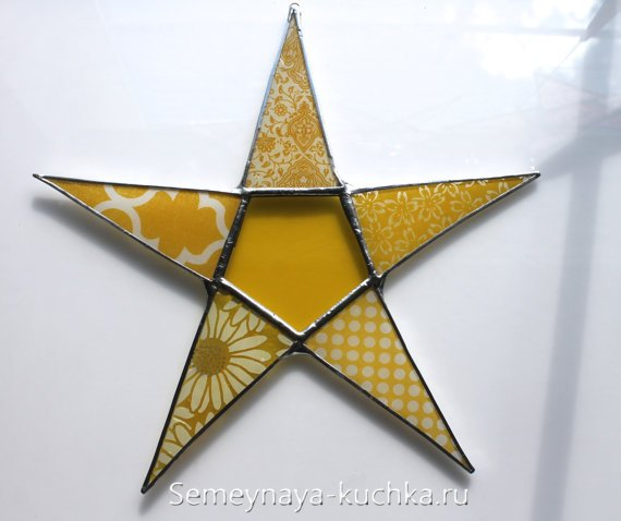 новогодняя звезда из стекла