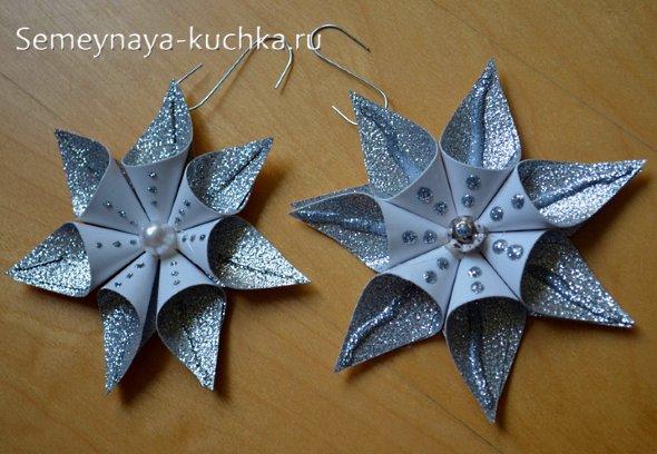 звезда из бумажных треугольников