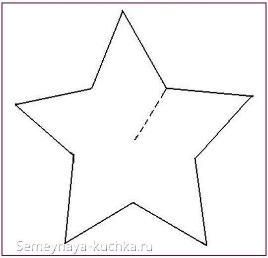 трафарет для 3d звезды