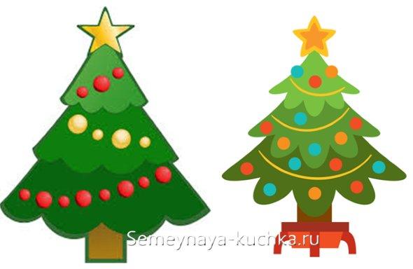 как нарисовать простую елку новогоднюю