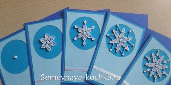 новогодние снежинки на открытках мастер-класс
