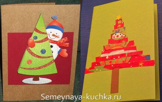 снеговики на новогодних открытках