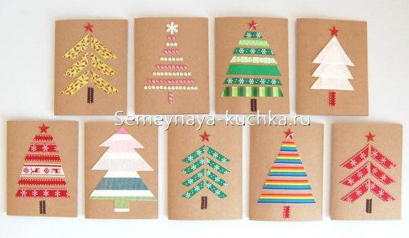 новогодние открытки своими руками как сделать