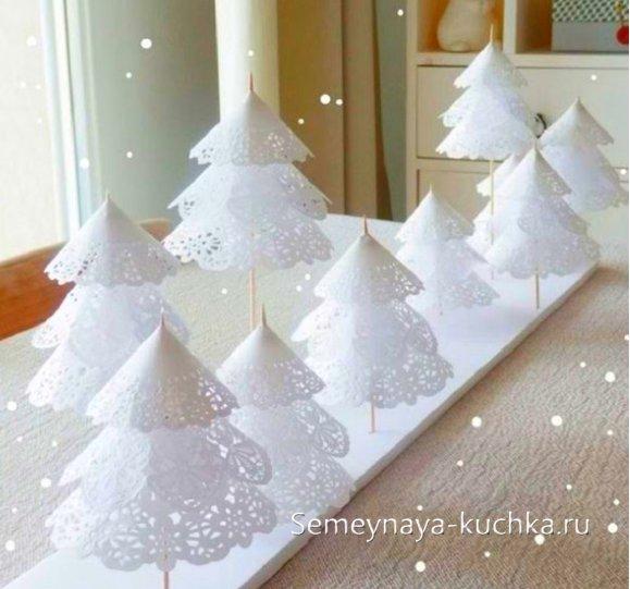 мастер-класс как сделать бумажную елку