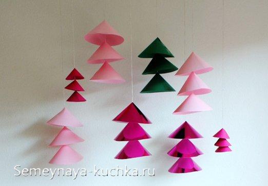 новогодние елки поделки из бумаги
