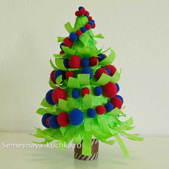 детская новогодняя елка поделка