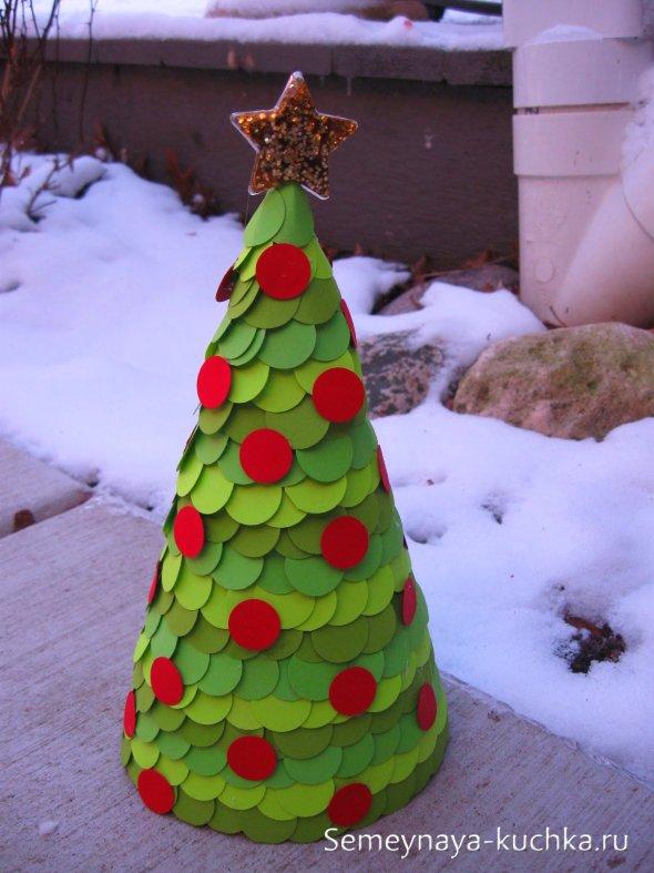 елка в виде конуса поделка новогодняя