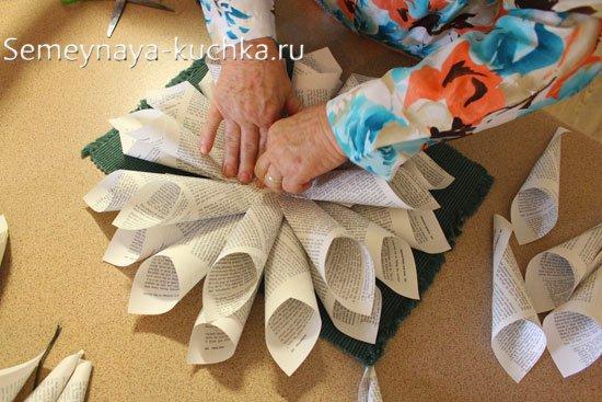елка из листов бумаги