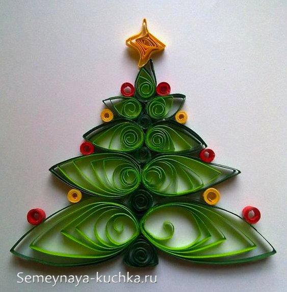 елка в технике квиллинг